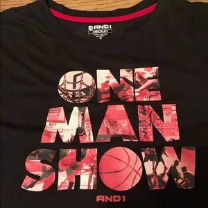 And1 one man show t-shirt medium